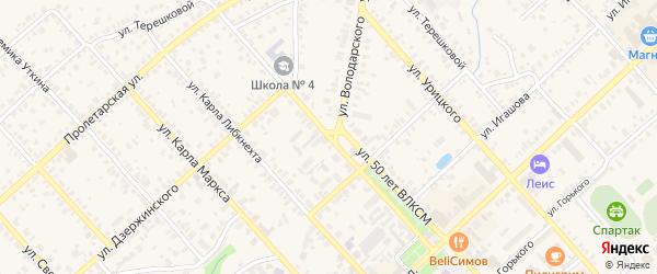Улица 50 лет ВЛКСМ на карте Касимова с номерами домов
