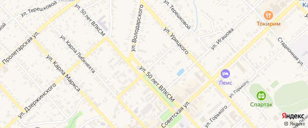 Улица Комарова на карте Касимова с номерами домов