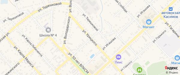 Улица Урицкого на карте Касимова с номерами домов
