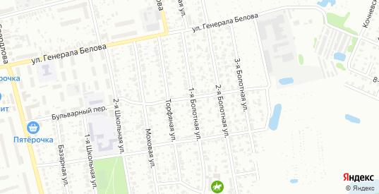 Болотный 1-й переулок в Шуе с номерами домов на карте. Спутник и схема онлайн