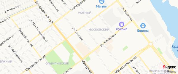 Московский ГСК на карте Тамбова с номерами домов