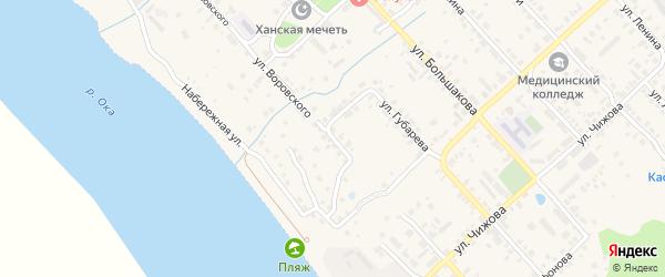Улица Воровского на карте Касимова с номерами домов