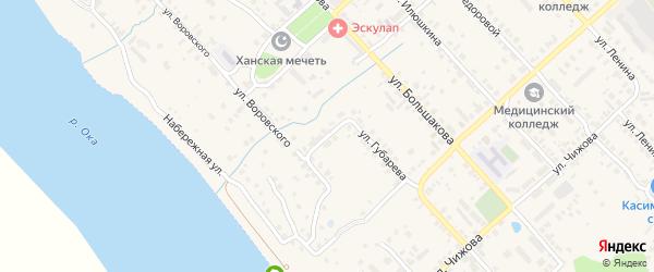 Переулок Губарева на карте Касимова с номерами домов