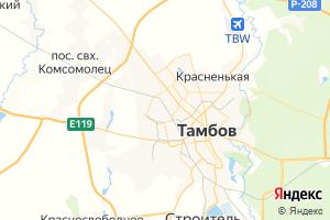 Карта г. Тамбов Тамбовская область