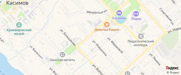 Улица Илюшкина на карте Касимова с номерами домов