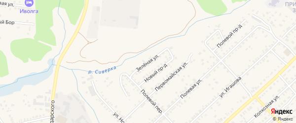 Зеленая улица на карте Касимова с номерами домов