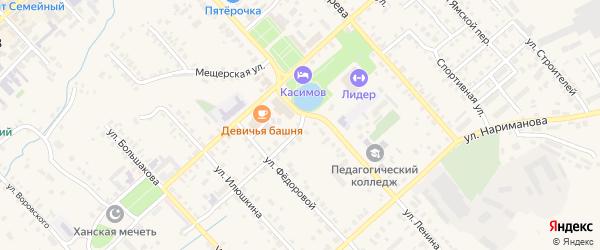 Улица Воеводина на карте Касимова с номерами домов