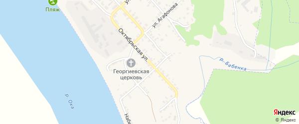 Октябрьская улица на карте Касимова с номерами домов