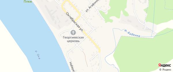 Садовая улица на карте Касимова с номерами домов