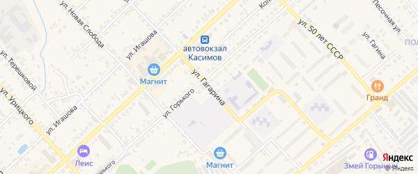 Улица Гагарина на карте Касимова с номерами домов
