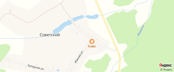 Центральная улица на карте Советского поселка Владимирской области с номерами домов