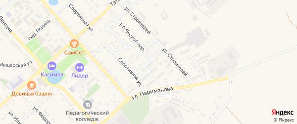 Спортивный 3-й переулок на карте Касимова с номерами домов