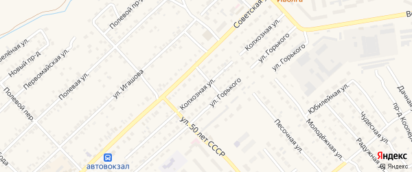 Колхозная улица на карте Касимова с номерами домов