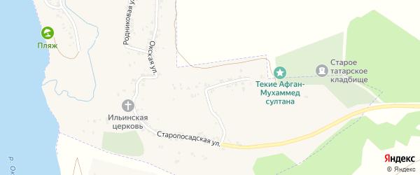 Малоокская улица на карте Касимова с номерами домов