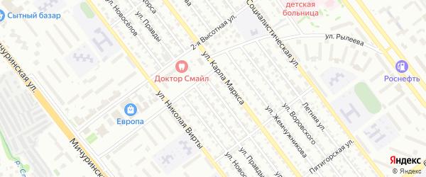 Улица Щорса на карте Тамбова с номерами домов