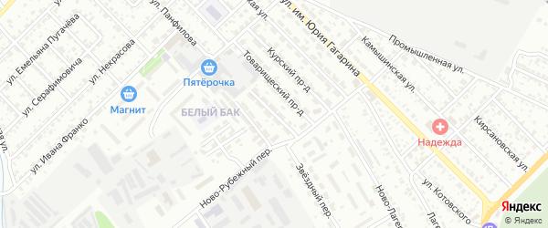 Серпуховский проезд на карте Тамбова с номерами домов
