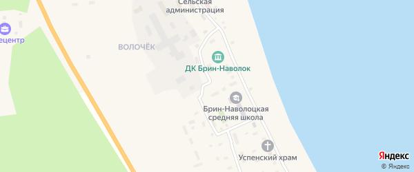Лесная улица на карте поселка Брина-Наволока с номерами домов