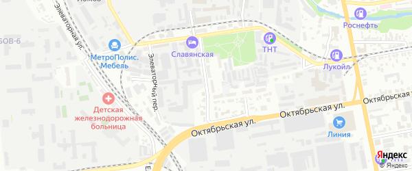 Фабричная улица на карте Тамбова с номерами домов