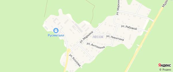 Улица Евгения Маркина на карте Касимова с номерами домов