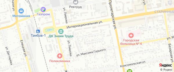 1-й Маратовский проезд на карте Тамбова с номерами домов