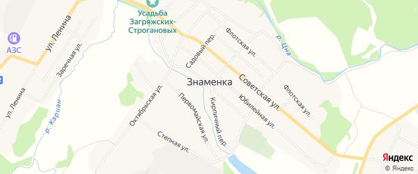 Карта поселка Знаменки в Тамбовской области с улицами и номерами домов