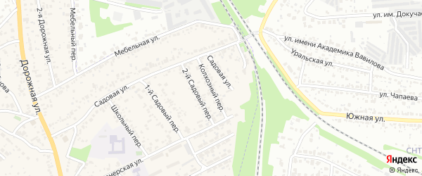 Колхозный переулок на карте Покрово-пригородного села Тамбовской области с номерами домов