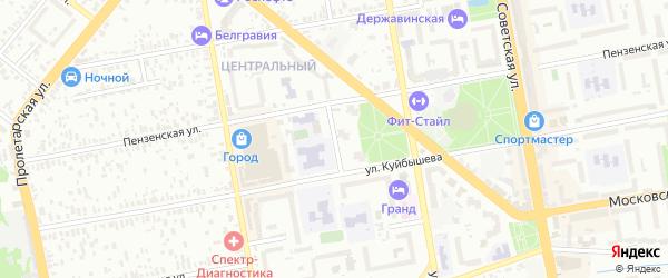 Пензенский проезд на карте Тамбова с номерами домов