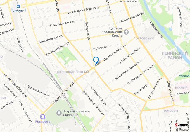только карта тамбова с улицами и фото домов данном разделе