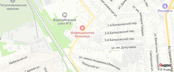 Улица им академика Бардина на карте Тамбова с номерами домов