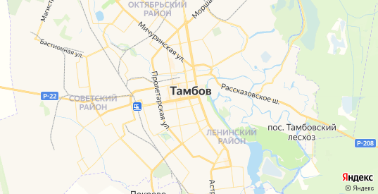 Карта Тамбова с улицами и домами подробная. Показать со спутника номера домов онлайн