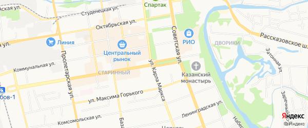 Территория СНТ Крыло на карте Тамбова с номерами домов