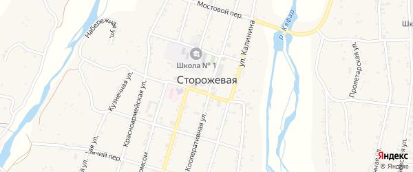 Пролетарская улица на карте Сторожевой станицы Карачаево-Черкесии с номерами домов