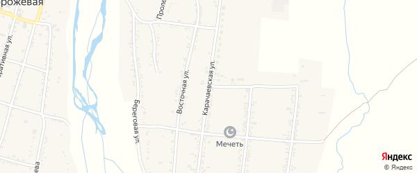 Карачаевская улица на карте Сторожевой станицы Карачаево-Черкесии с номерами домов