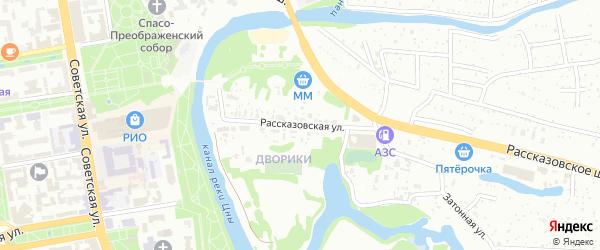 Рассказовская улица на карте Тамбова с номерами домов