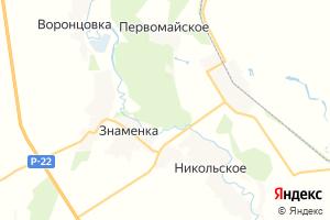 Карта пгт Знаменка Тамбовская область