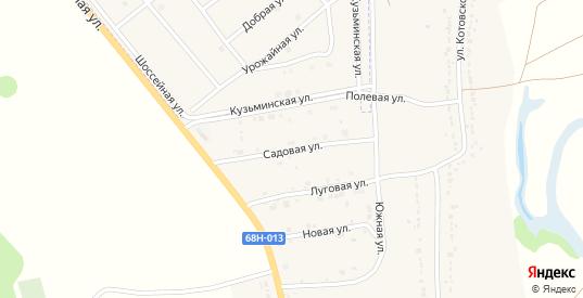 Садовая улица в Котовске с номерами домов на карте. Спутник и схема онлайн