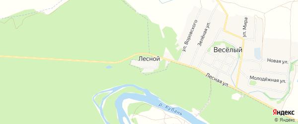 Карта Лесного поселка в Краснодарском крае с улицами и номерами домов