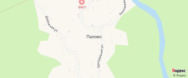 Лесной переулок на карте поселка Палово с номерами домов