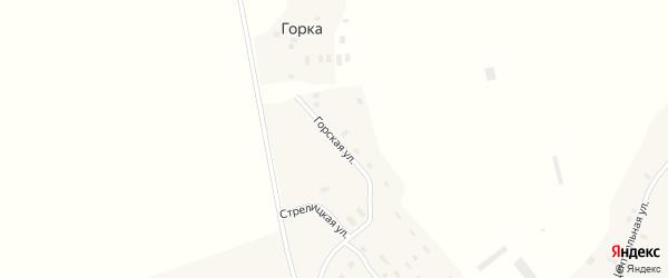 Горская улица на карте села Биряково Вологодской области с номерами домов
