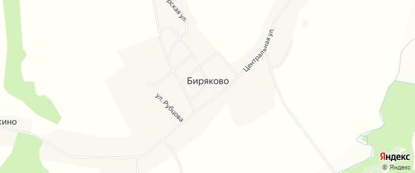 Карта села Биряково в Вологодской области с улицами и номерами домов
