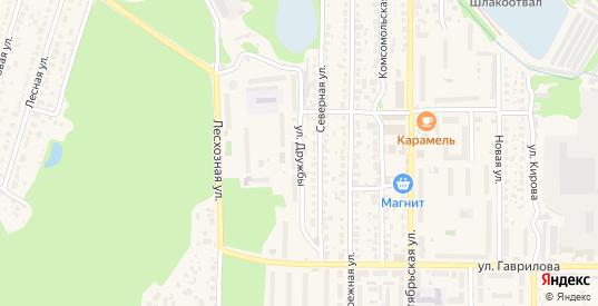 Улица Дружбы в Котовске с номерами домов на карте. Спутник и схема онлайн