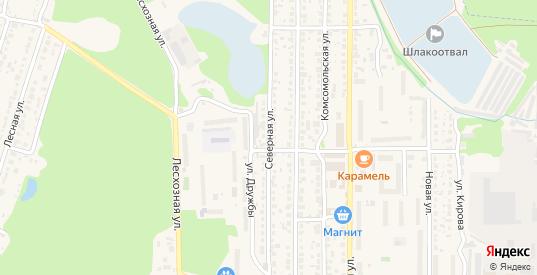 Северная улица в Котовске с номерами домов на карте. Спутник и схема онлайн