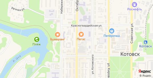 Октябрьская улица в Котовске с номерами домов на карте. Спутник и схема онлайн