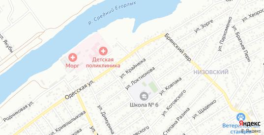 Улица Крайнюка в Сальске с номерами домов на карте. Спутник и схема онлайн
