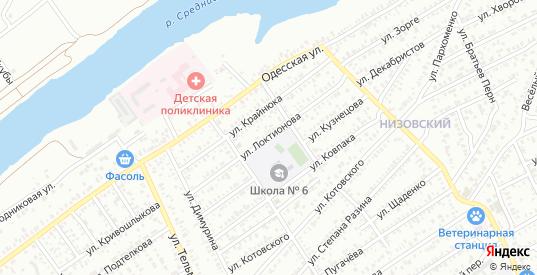 Улица Локтионова в Сальске с номерами домов на карте. Спутник и схема онлайн