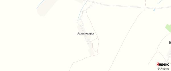 Карта деревни Арполово в Рязанской области с улицами и номерами домов