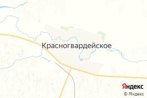 Карта с. Красногвардейское Ставропольский край