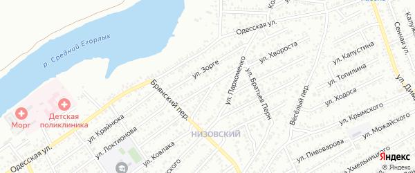 Улица Декабристов на карте Сальска с номерами домов
