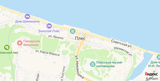 Территория СТД в Плесе с номерами домов на карте. Спутник и схема онлайн