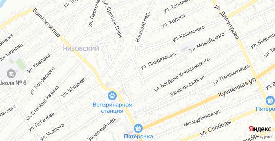 Улица Громовой в Сальске с номерами домов на карте. Спутник и схема онлайн